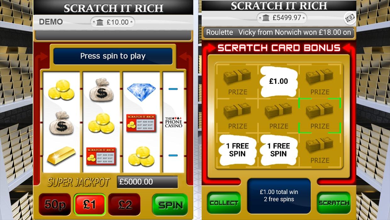 Scratch It Rich mobile slot