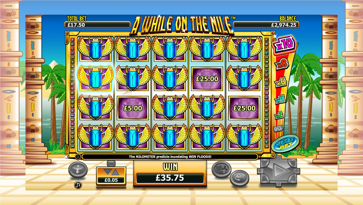 A While On The Nile mobile slot