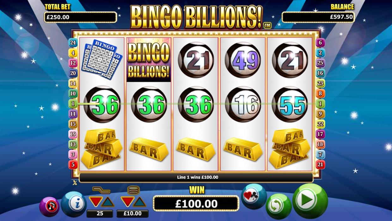 Bingo Billions mobile slot