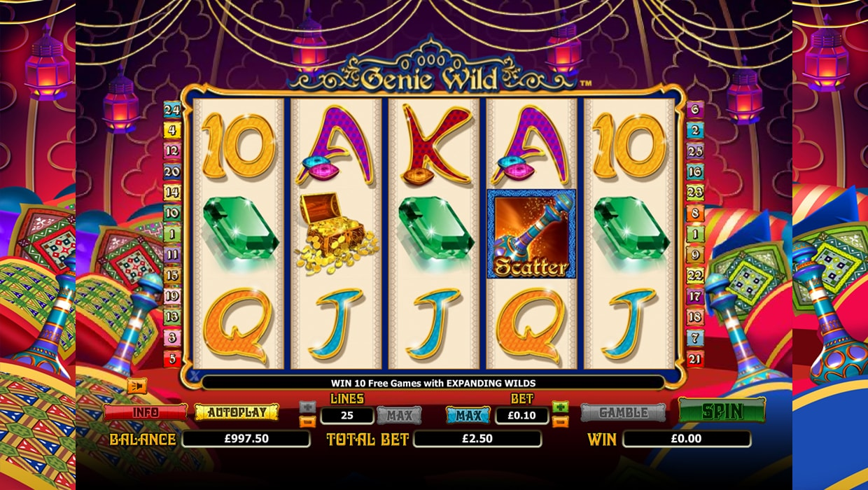 Genie Wild mobile slot