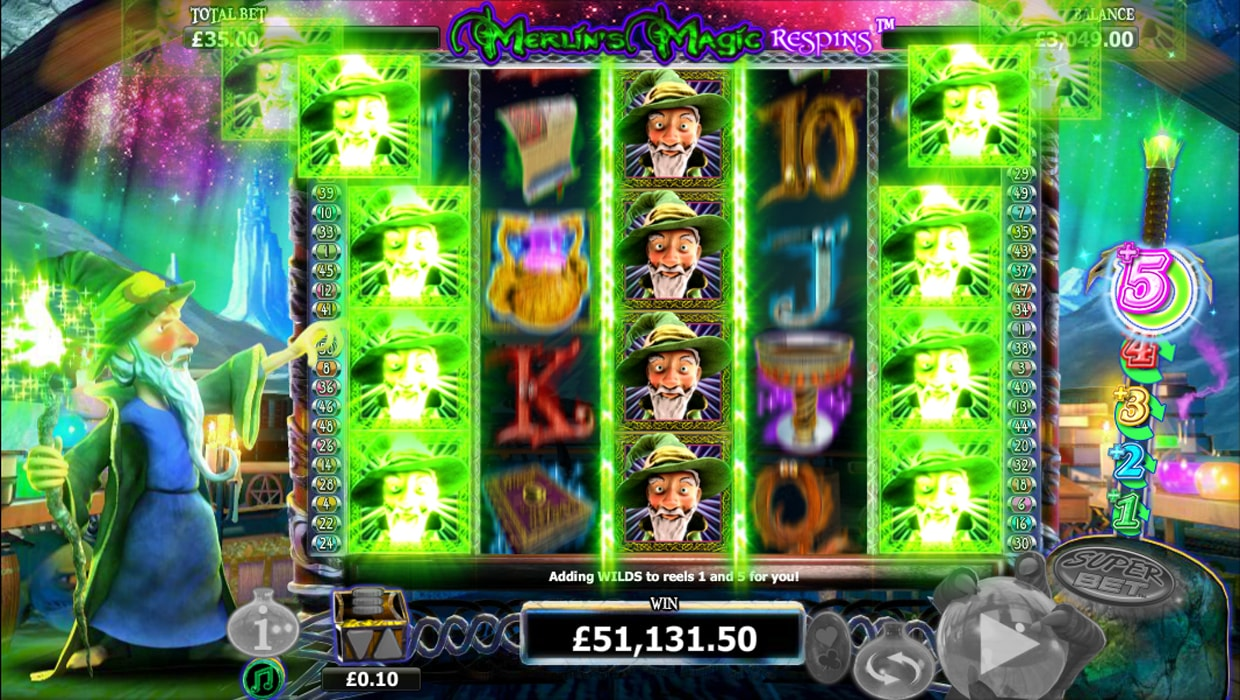 Merlin's Magic Respins mobile slot