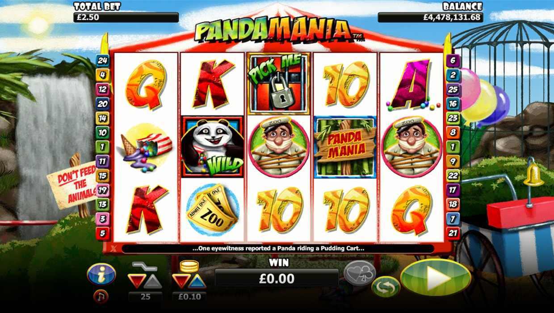 Pandamania mobile slot