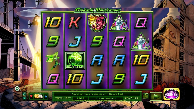 Green Lantern mobile slot