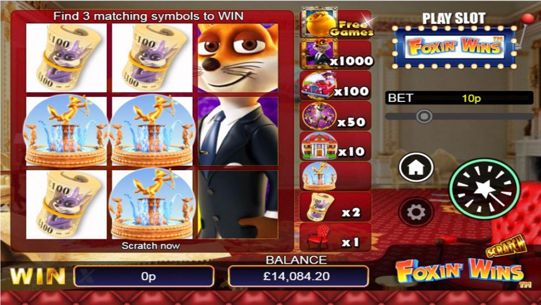 Foxin Wins Scratchcard