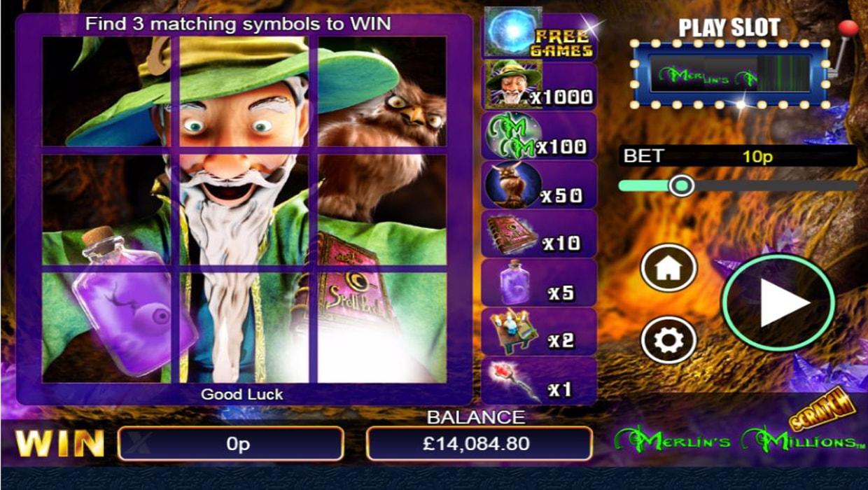 Merlins Millions scratchcard