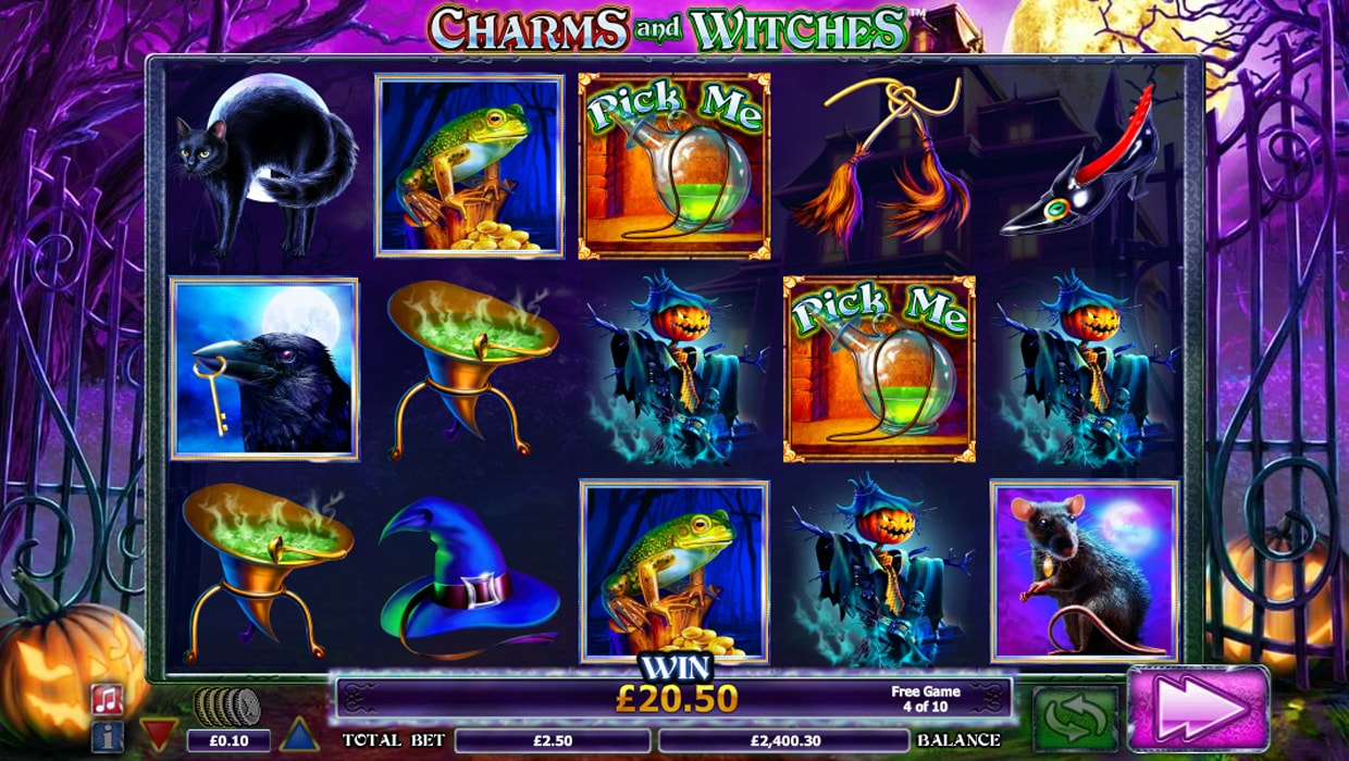 Charms and witches mobile slot