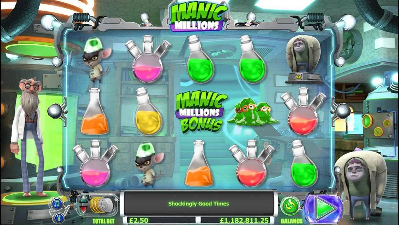 Manic Millions mobile slot
