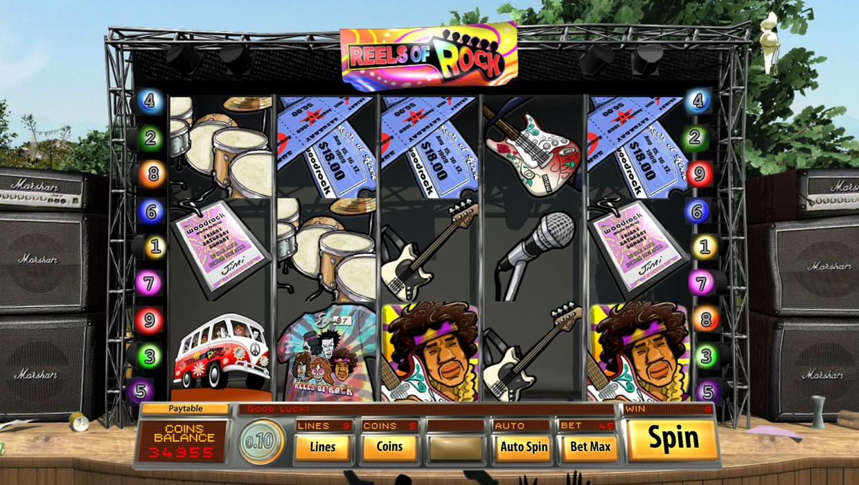 Reels Of Rock mobile slot