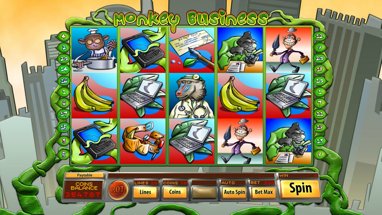 Monkey Business mobile slot