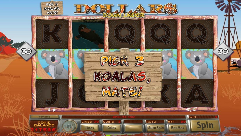 Dollars Down Under mobile slot