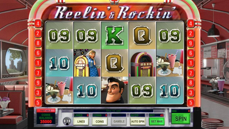Reelin And Rockin mobile slot